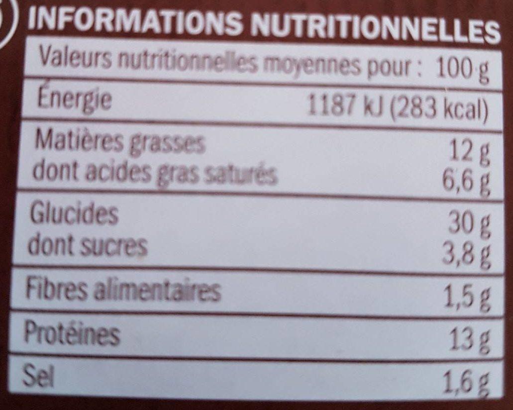 Burger Le Montagnard jambon et raclette - Informations nutritionnelles - fr
