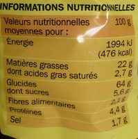 Snack smiley goût épicé - Voedingswaarden