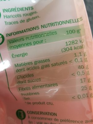 Haricots rouges - Ingredients - fr
