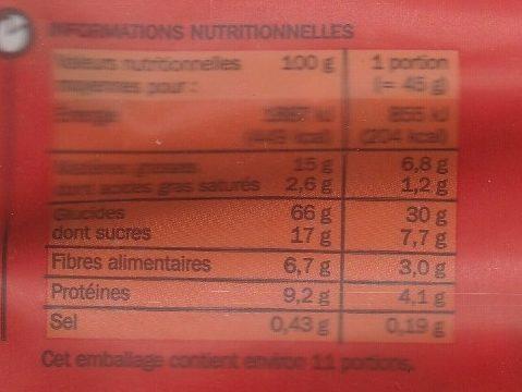 Muesli croustillant aux fraises - Informations nutritionnelles - fr