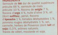 Céréales provençales (blé, épeautre, seigle et orge) x 2 sachets - Ingrédients - fr
