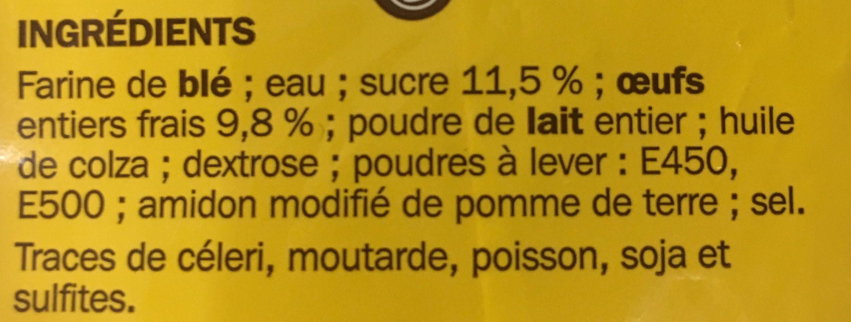 Pancakes sucrés surgelés x 6 - Ingrédients - fr