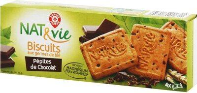 Biscuits aux germes de blé et pépites de chocolat - Product