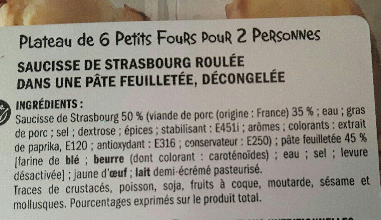 Mini feuilletés saucisse - Ingrédients - fr