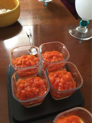Verrines chèvre et tartare de tomate - Product