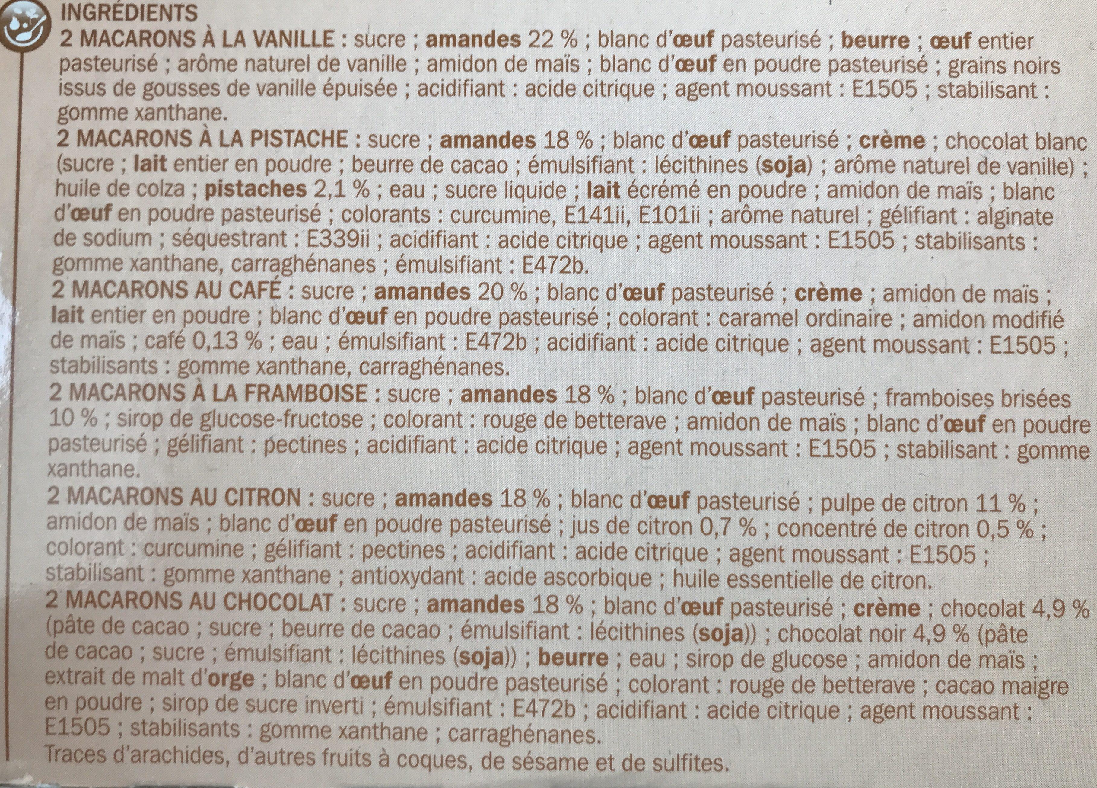 Assortiment de macarons x 12 - Ingrediënten - fr