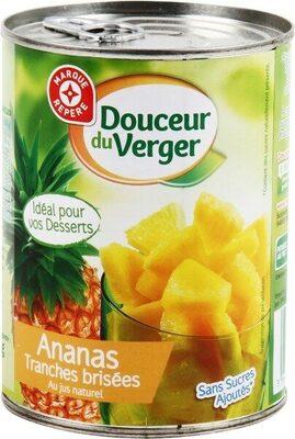 Ananas tranches brisées jus naturel - Produit - fr