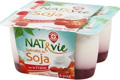 Spécialité au soja sur lit de fraises - Product