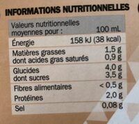 8 capsules cappucino - Informations nutritionnelles - fr