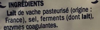 Le vacherond 34 % Mat. Gr. - Ingrédients - fr