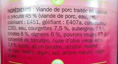 Porc à la provençale - Ingrédients