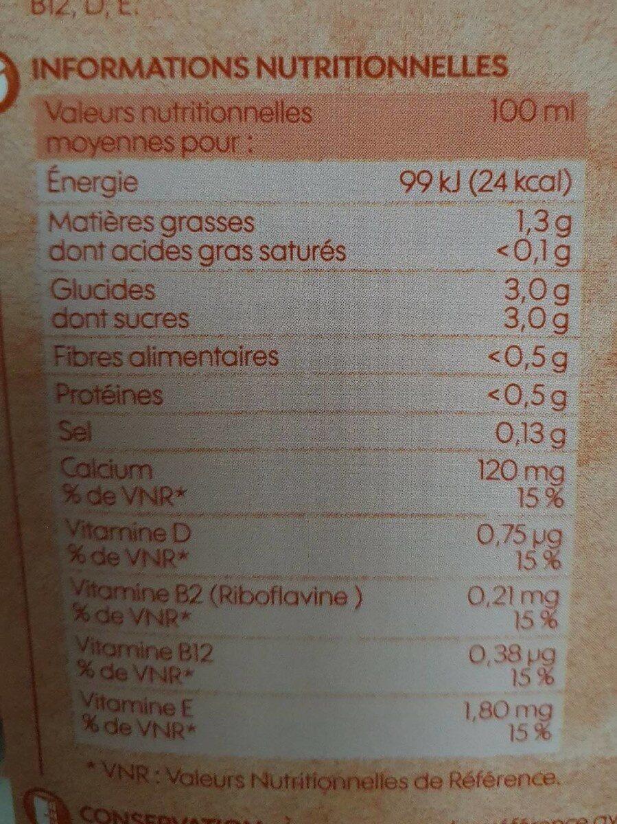 Boisson à l'amande - Informations nutritionnelles - fr