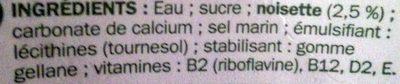 Boisson à la noisette - Ingrédients - fr