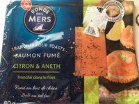 Saumon Fumé pour Toasts Citron et Aneth - Produit - fr