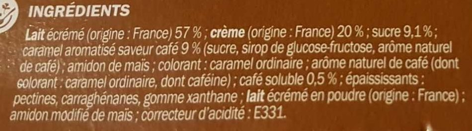 Panna cotta sur lit de café x 4 - Ingredients