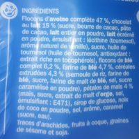 Muesli croustillant chocolat au lait - Ingrédients - fr