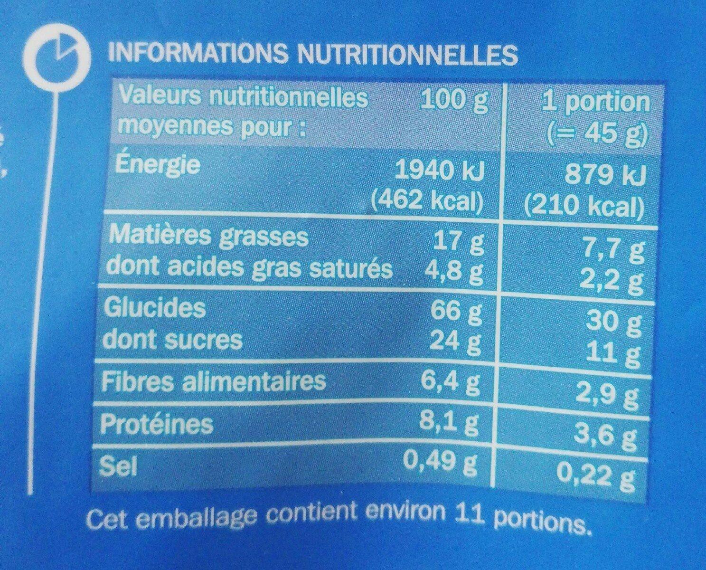 Muesli croustillant chocolat au lait - Informations nutritionnelles - fr