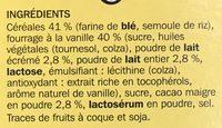 Céréales cacao fourrées vanille - Ingrediënten - fr