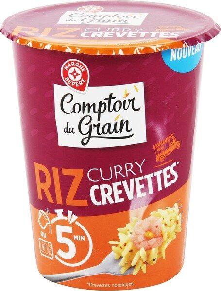 Riz curry et crevettes - cup - Product - fr
