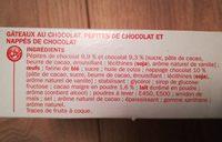 Gâteaux tout chocolat x 7 - Ingredients - fr
