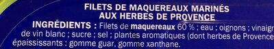 Filets maquereaux marinade herbes et Provence - Ingredients