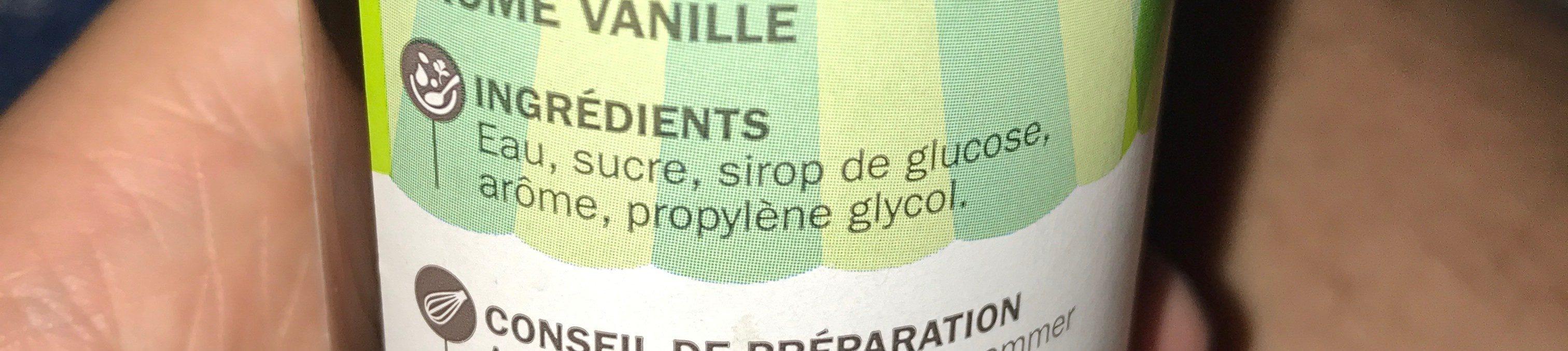 Arôme vanille - Ingredients - fr