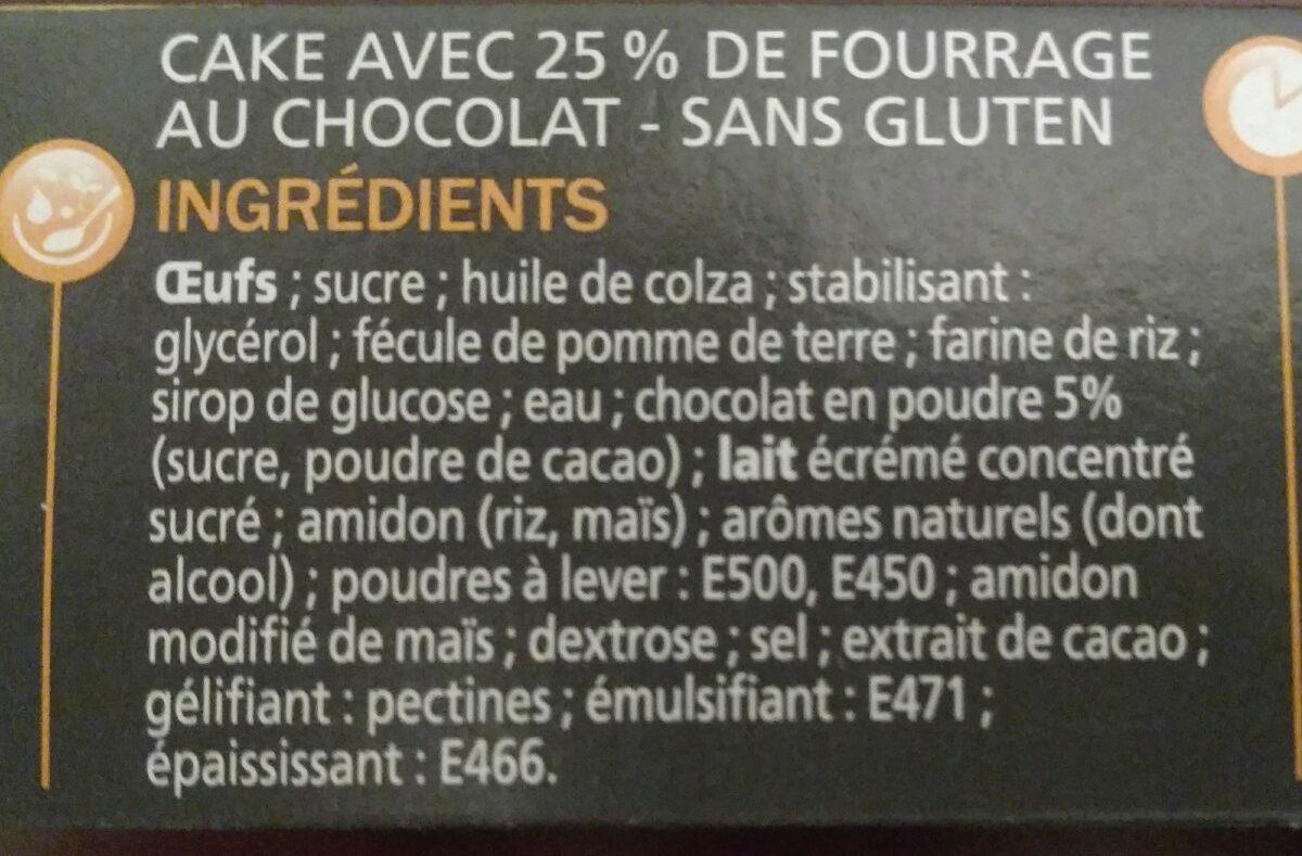 Cakes fourrés chocolat sans gluten x 7 - Ingrédients - fr