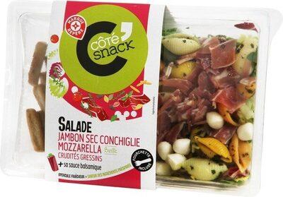 Salade de jambon sec, conchiglie et mozzarella - Produit