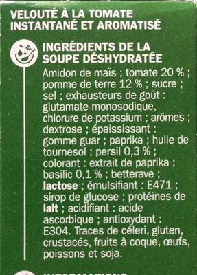 Velouté de tomate instantané - Ingrédients - fr