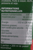 Velouté de tomate instantané - Informations nutritionnelles - fr