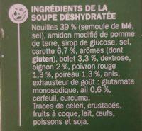 Bouillon chinois et nouilles instantané - Ingrédients - fr