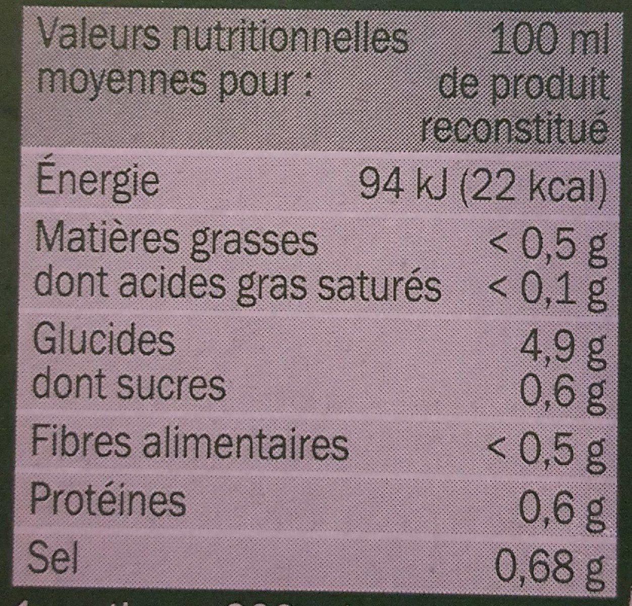 Bouillon chinois et nouilles instantané - Informations nutritionnelles - fr