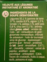 Velouté de légumes instantané - Ingrédients - fr