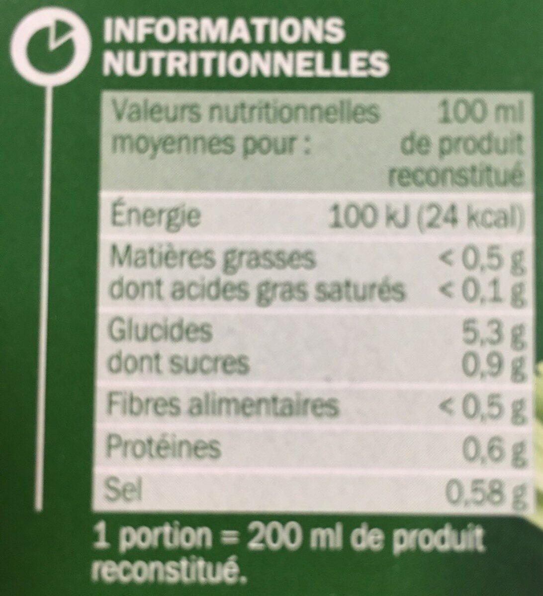 Velouté de légumes instantané - Informations nutritionnelles - fr