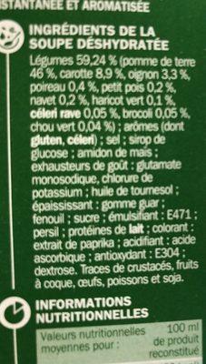Mouliné 10 légumes instantané - Ingrédients - fr