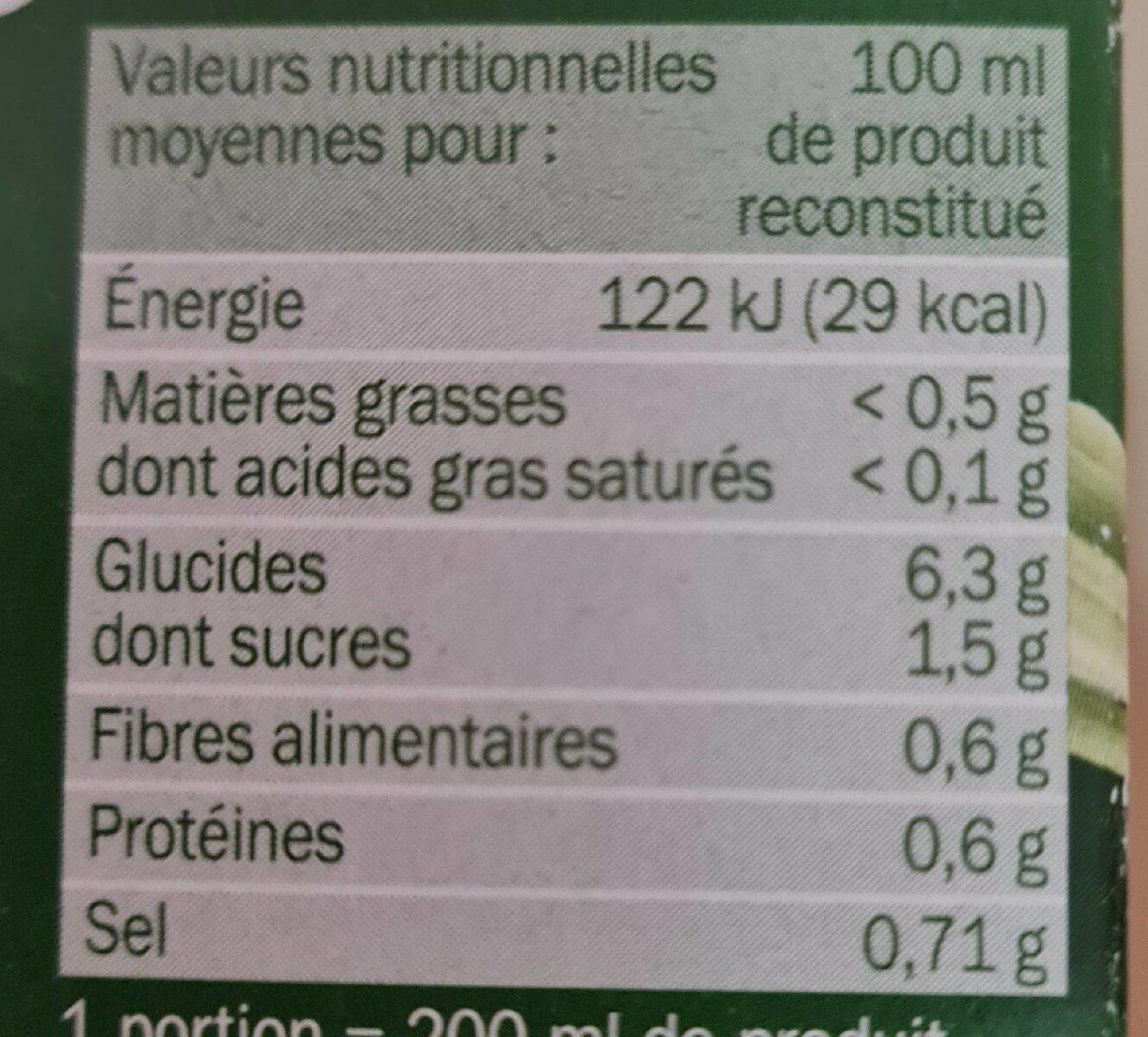Mouliné 10 légumes instantané - Informations nutritionnelles - fr