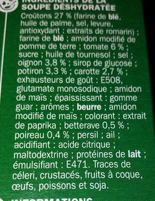 Velouté de légumes et croutons instantané - Ingrédients - fr