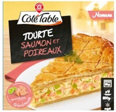 Tourte saumon et poireaux - Product - fr