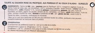 Tourte saumon et poireaux - Ingrediënten - fr