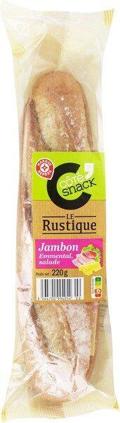 Sandwich baguette de campagne jambon emmental salade - Produit - fr