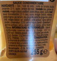 Sauce burger - flacon - Nutrition facts - fr