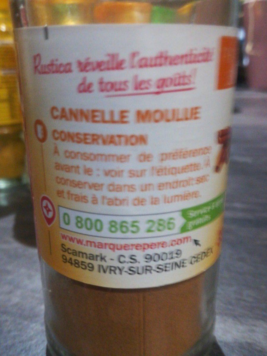 Cannelle - flacon - Ingrédients