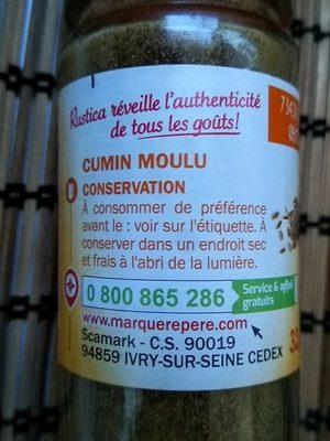 Cumin moulu - flacon - Ingredienti - fr