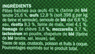 Girasoli chèvre miel - Ingrédients