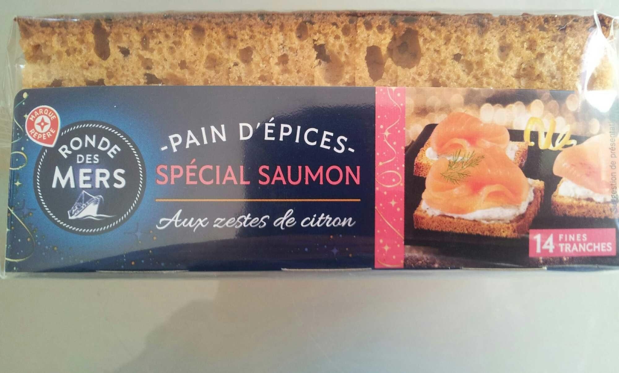 Pain d'épices au miel et aux zestes de citron (spécial saumon) - Product