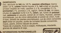 Lasagnes au saumon surgelées - Ingrediënten - fr