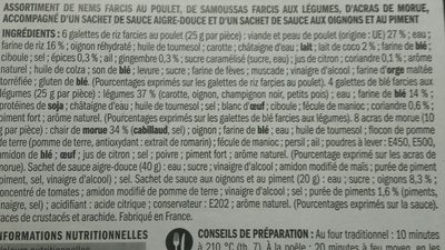 Assortiment créole et ses 2 sauces - Ingrédients - fr