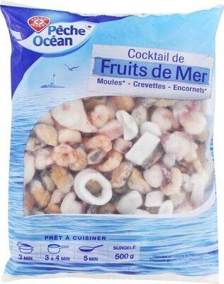 Cocktail de 4 fruits de mer surgelé - sachet - Product