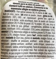 Mini sandwich viennois poulet emmental - Ingrediënten - fr