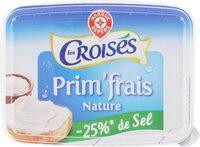 Fromage à tartiner nature -25% de sel réduit - Produit - fr
